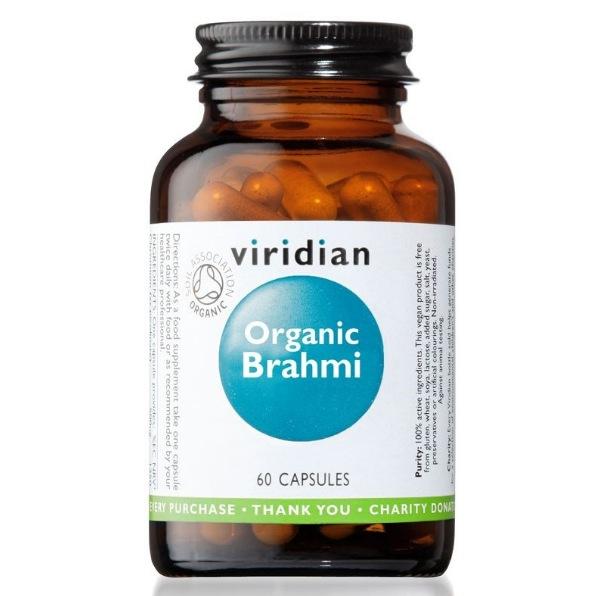 Viridian Brahmi 60 kapslí Organic