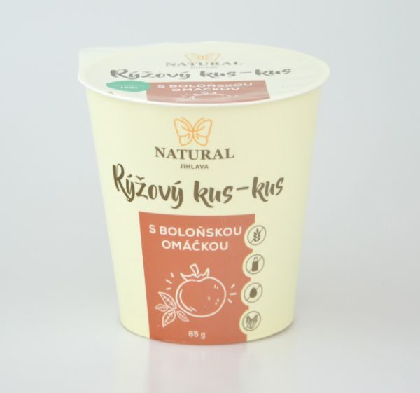 Natural Jihlava Rýžový kus-kus s boloňskou omáčkou bez lepku, mléka a vajec 85g