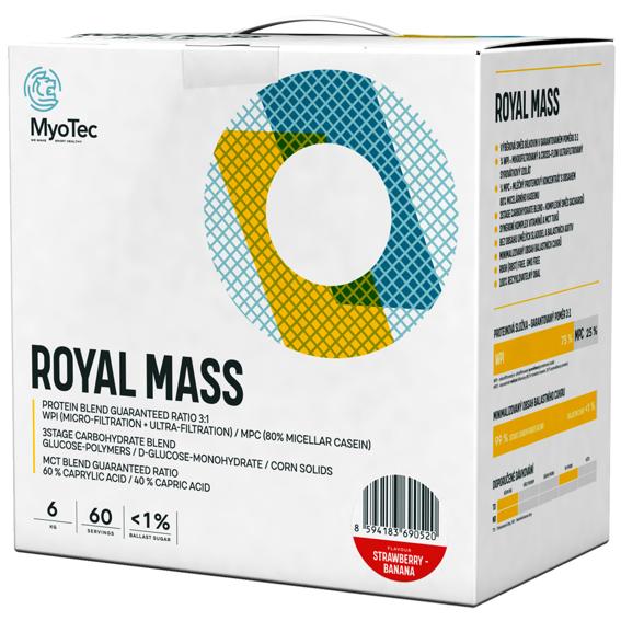 MyoTec Royal Mass 6kg jahoda-banán