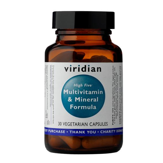 Viridian High Five Multivitamin and Mineral Formula 30 kapslí (Natural multivitamín pro každý den)