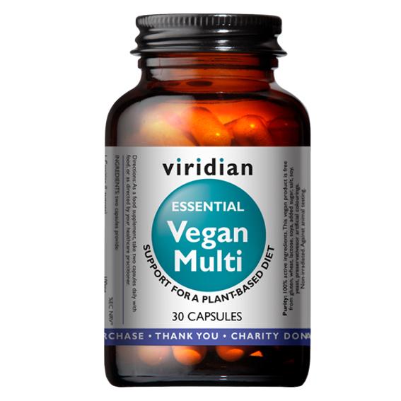 Viridian Vegan Multi 30 kapslí (Multivitamín pro vegany)