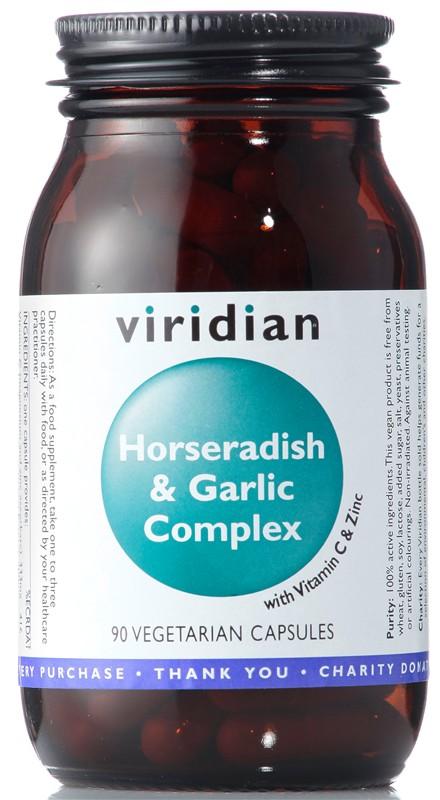 Viridian Horseradish and Garlic Complex 90 kapslí (Křen a česnek)