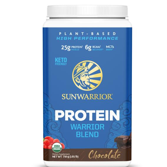 Sunwarrior Protein Blend BIO 750g čokoláda (Hrachový, konopný protein a goji)