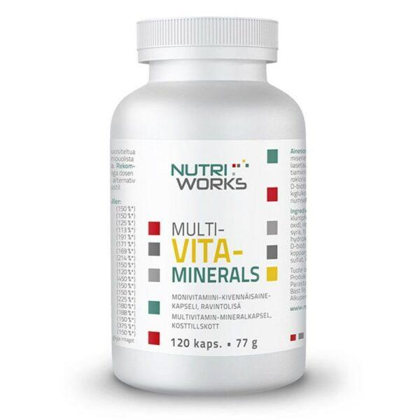 NutriWorks Multivitaminerals 120 kapslí (Směs vitamínů a minerálů)