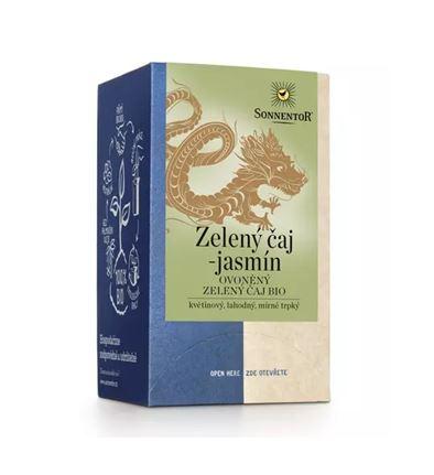 Sonnentor Zelený čaj - jasmín ovoněný zelený čaj bio (obsahuje kofein)