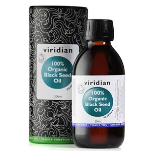 Viridian Black Seed Oil 200ml Organic (Bio olej z egyptského černého kmínu)