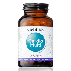 Viridian Cardio Multi 60 kapslí (Multivitamín pro kardiovaskulární systém)