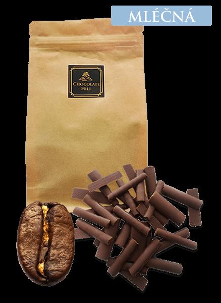 Chocolate Hill 45% MLÉČNÁ ČOKOLÁDA S VÝBĚROVOU KÁVOU 100g