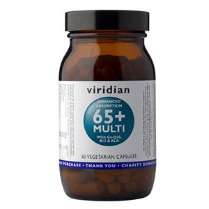 Viridian 65+ Multi 60 kapslí (Natural multivitamín pro seniory)