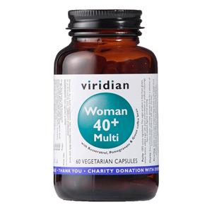 Viridian 40+ Woman Multivitamin 60 kapslí (Natural multivitamín pro ženy)