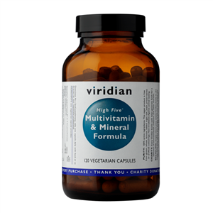Viridian High Five Multivitamin and Mineral Formula 120 kapslí (Natural multivitamín pro každý den)