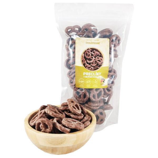RageFitness Preclíky v mléčné čokoládě - 250g