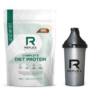Reflex Complete Diet Protein 600g kokos + šejkr zdarma