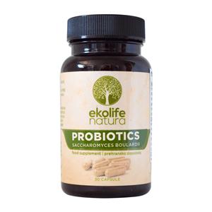 EKOLIFE NATURA Probiotics Saccharomyces Boulardi 30 kapslí (Probiotika Saccharomyces Boulardii)
