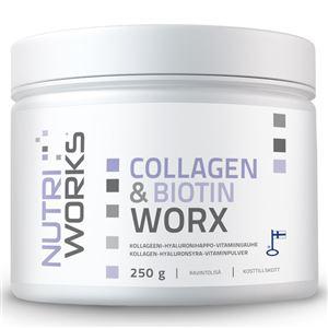 NutriWorks Collagen and Biotin Worx 250g
